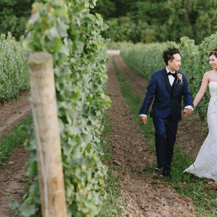 Elle & Be Films featured in Erica and Enho's Vineyard Wedding at Château des Charmes
