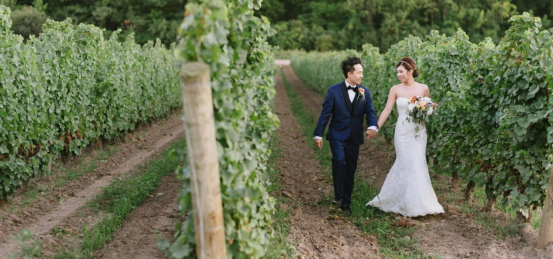 Hero image for Erica and Enho's Vineyard Wedding at Château des Charmes
