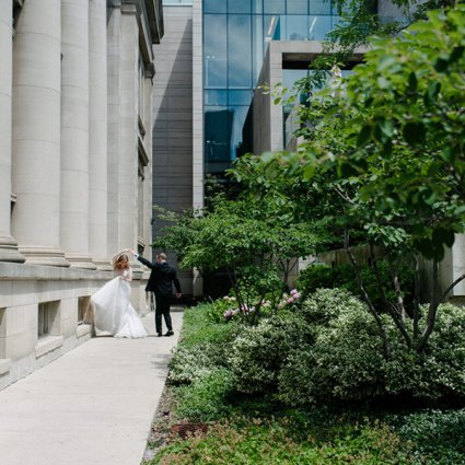 Four Seasons Hotel Toronto featured in Samantha and Joey's White-and-Green Lush Garden Wedding