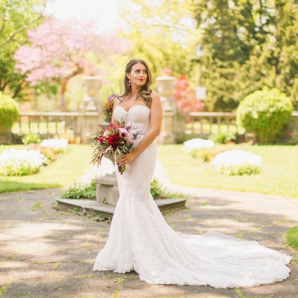 DT Floral & Décor featured in Lauren & Michael's Elegant Fairy Tale Wedding at Grand Luxe