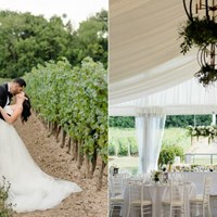 Christina and Walid's Garden Wedding at Château des Charmes