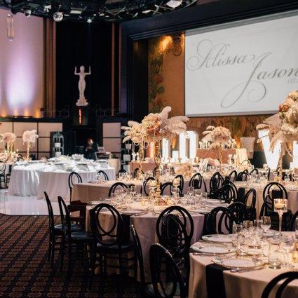 The Eglinton Grand featured in Alissa and Jason's Elegant Gatsby Wedding at Eglinton Grand