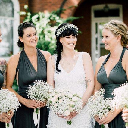 Ooh La La Designs featured in Sam and Scott's Effortlessly Elegant Wedding at Honsberger Es…