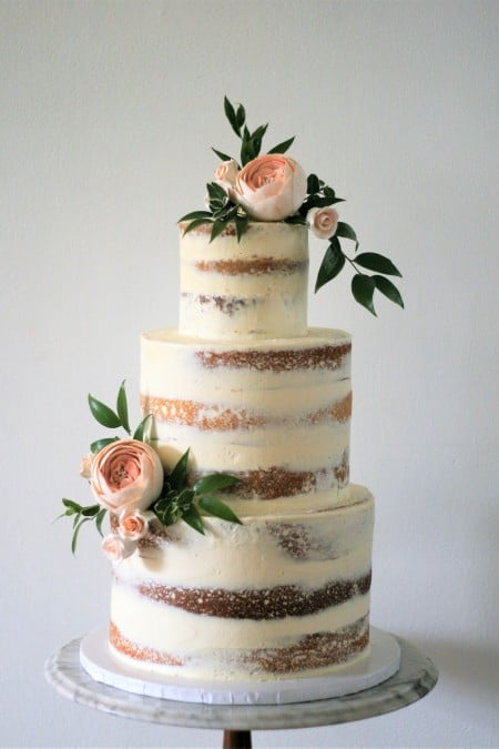 Greenery On Wedding Cake