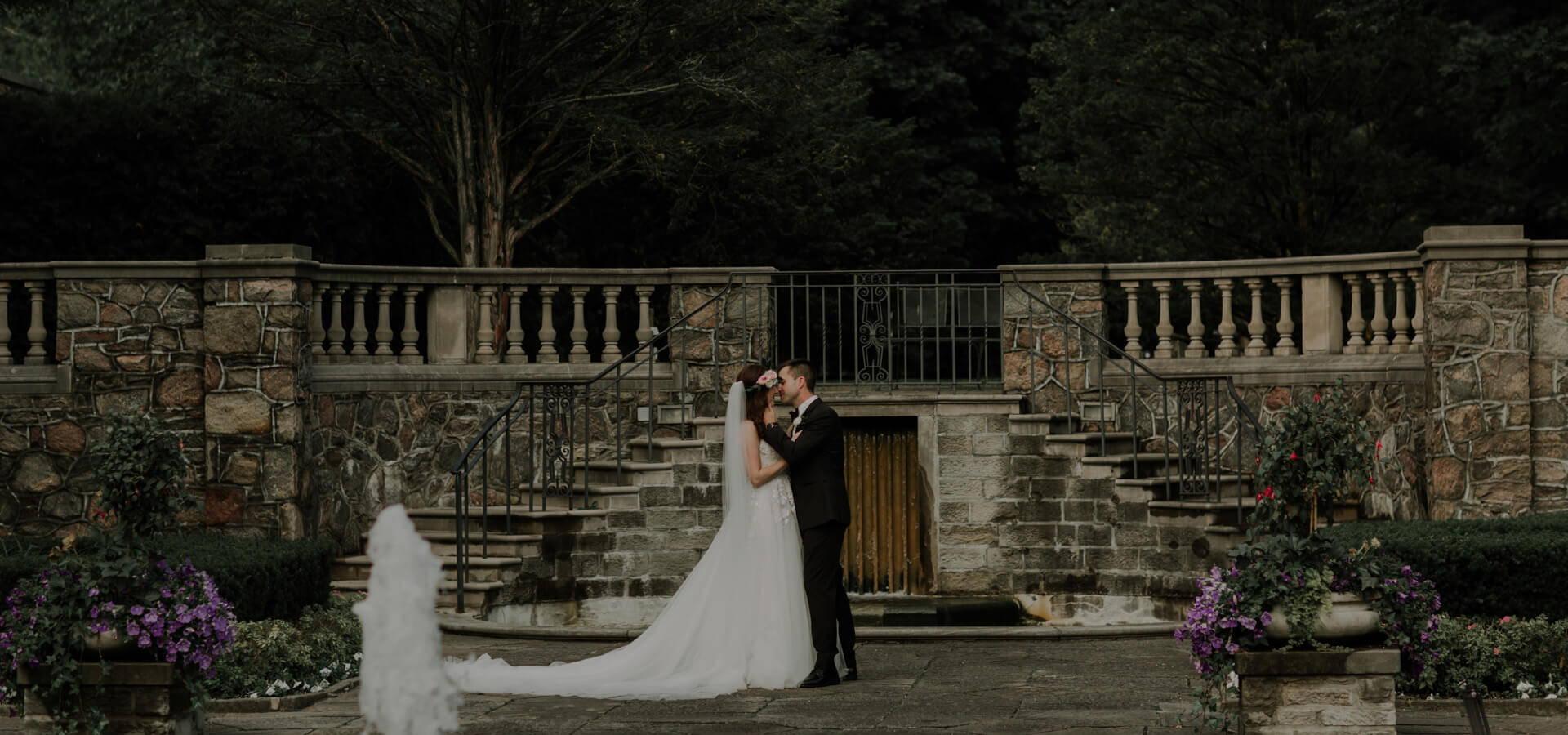 Hero image for Katie and Ken's Romantic Wedding at Graydon Hall Manor