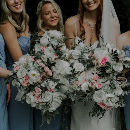 First Comes Love Weddings & Floral Designs featured in Leigh-Anne and Calvin's Intimate Wedding at The Guild Inn Estate