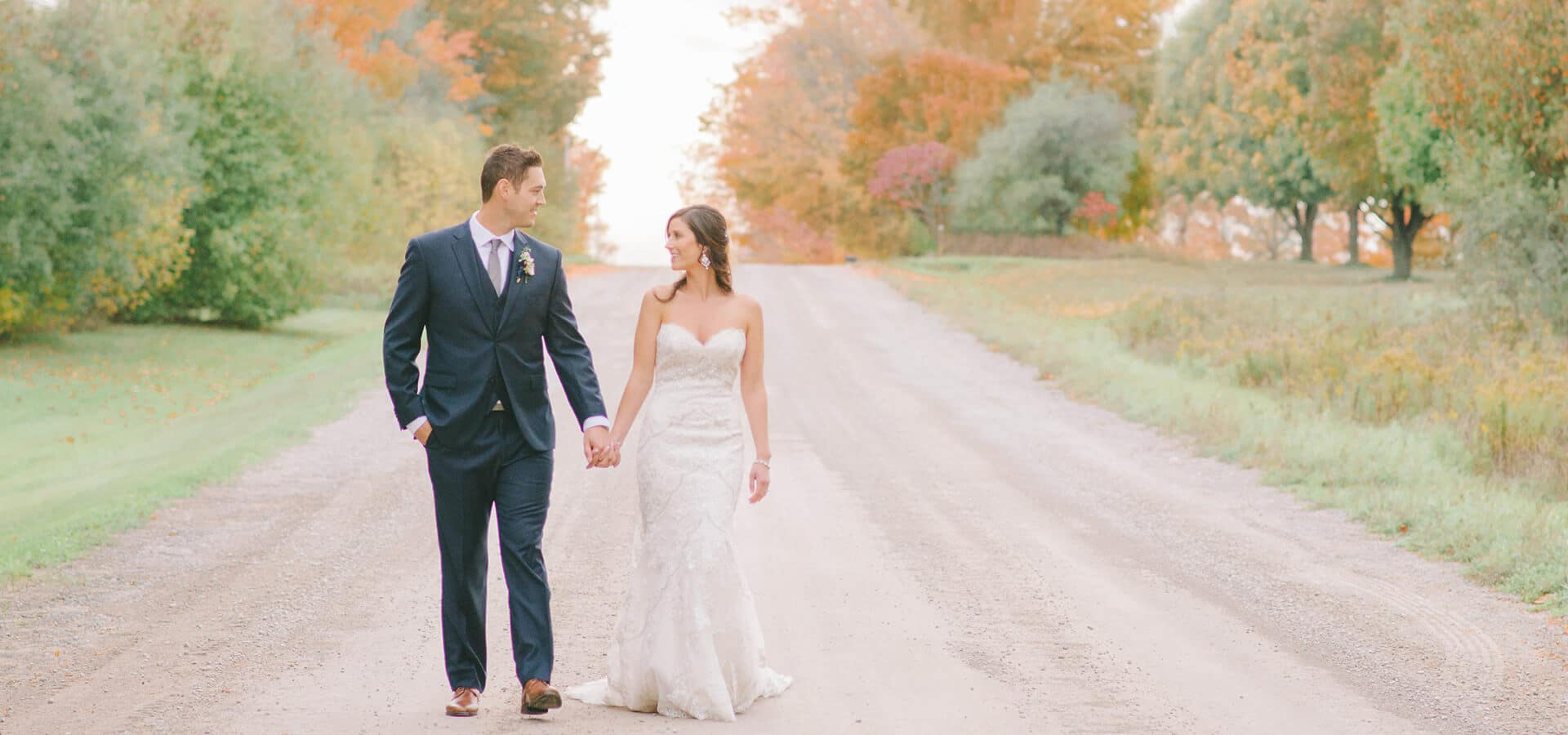 Hero image for Megan and Alec's Sweet Wedding at Nestleton Waters Inn