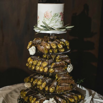 Matamiese Bakery featured in Brenna and Dave's Dreamy Castle Wedding at Casa Loma