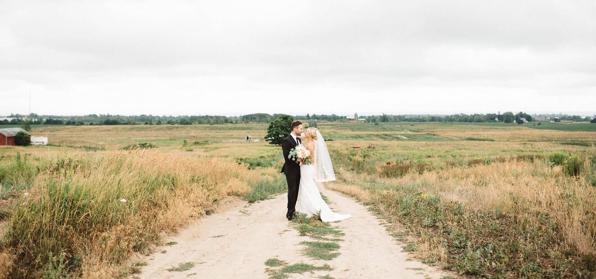 Hero image for Caitlin & Josh's Dreamy Barn Wedding at Earth To Table Farm