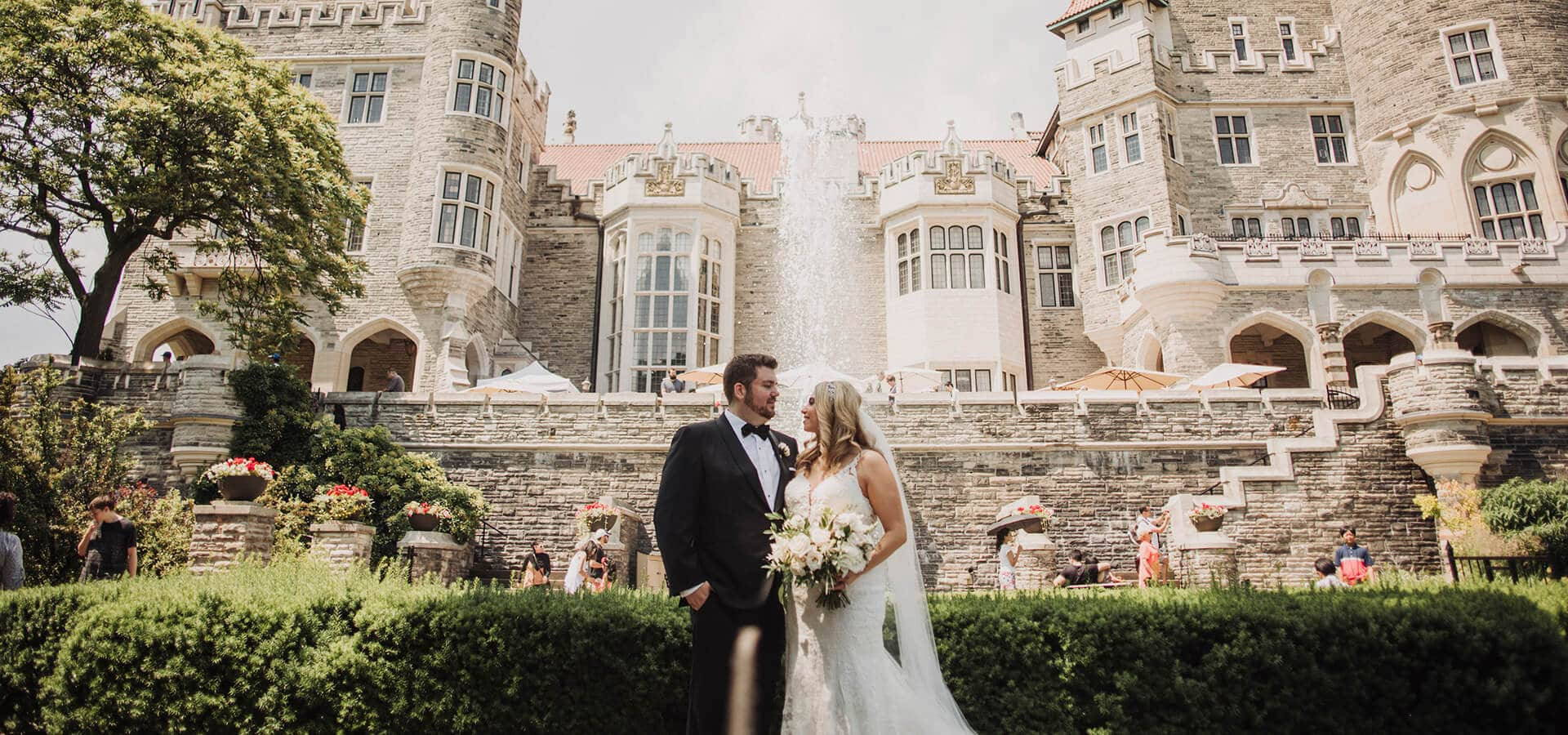 Hero image for Brenna and Dave's Dreamy Castle Wedding at Casa Loma