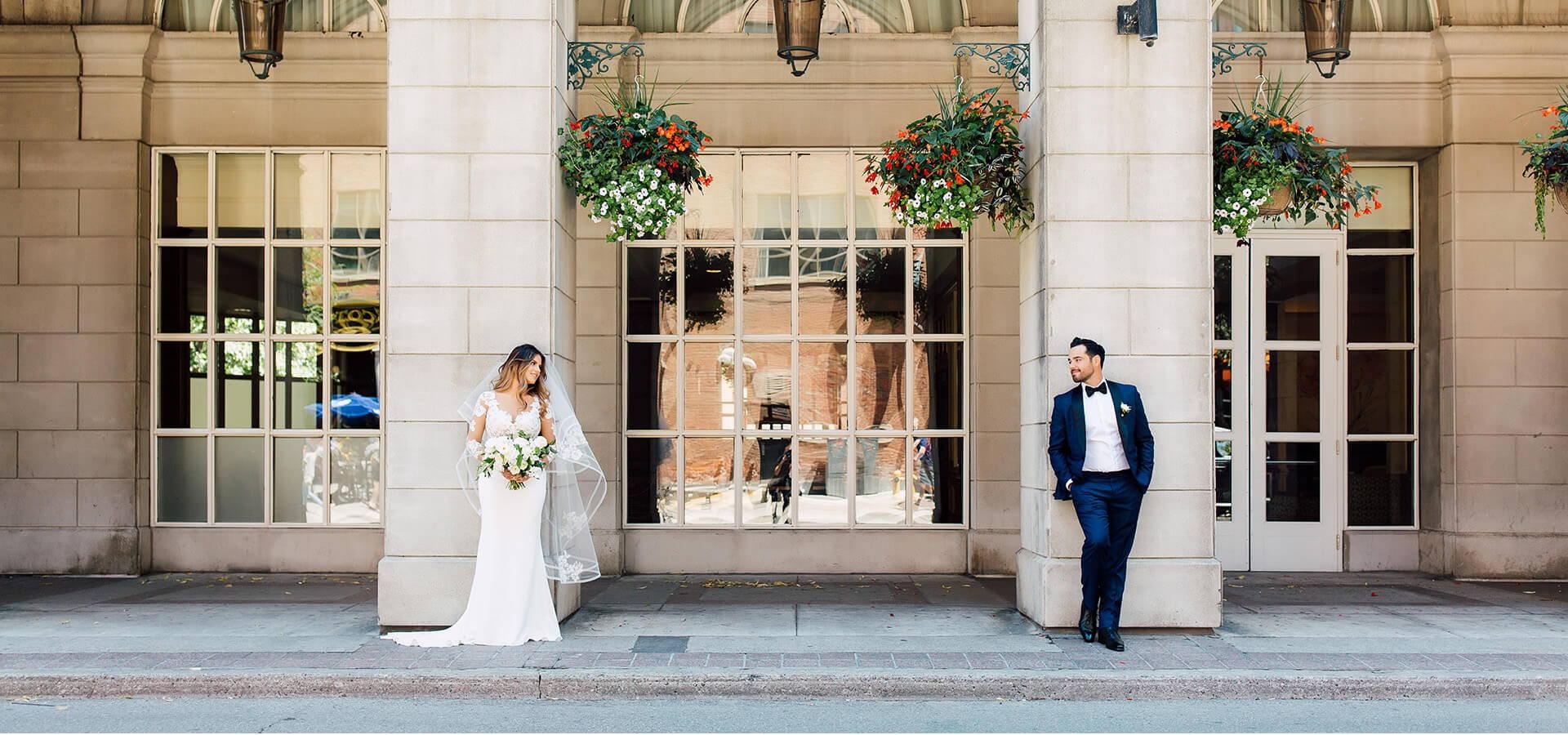 Hero image for Jessica and Daniel's Luxe Garden Wedding at York Mills Gallery