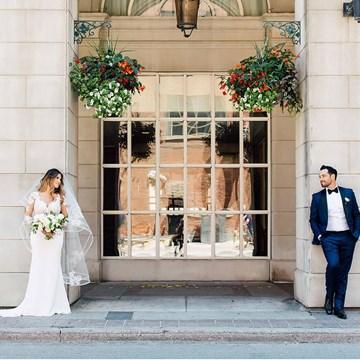 Jessica and Daniel's Luxe Garden Wedding at York Mills Gallery