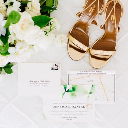 Diana Pires Events featured in Jessica and Daniel's Luxe Garden Wedding at York Mills Gallery