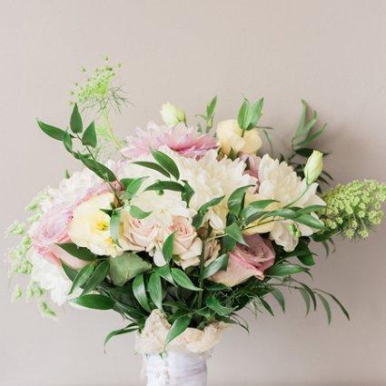 Karen Baker Floral Design & Event Planning featured in Hayley and Ivan's Romantic Wedding at The Manor