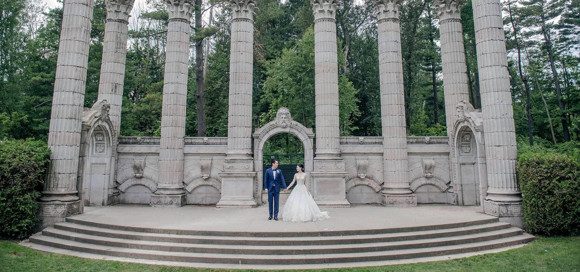 Hero image for Ashley and Boran's Lush Wedding at The Guild Inn Estate