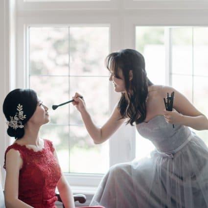 Bridal Secretary featured in Ashley and Boran's Lush Wedding at The Guild Inn Estate
