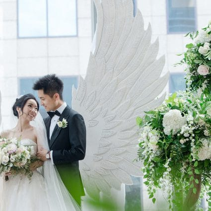 Beyond Dynamic Event Productions featured in Olivia and Ben's Enchanting Wedding at the Shangri-La Hotel