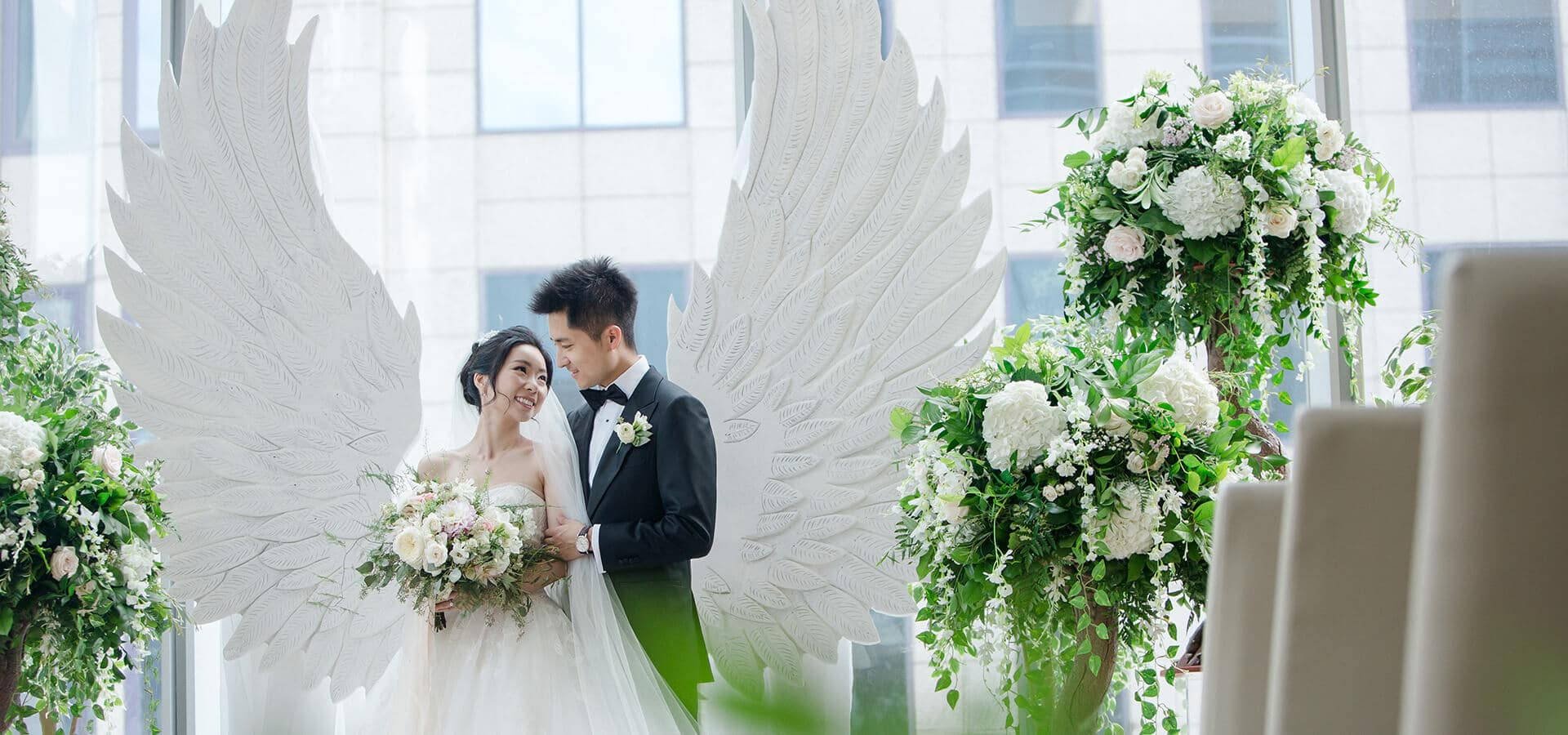 Hero image for Olivia and Ben's Enchanting Wedding at the Shangri-La Hotel