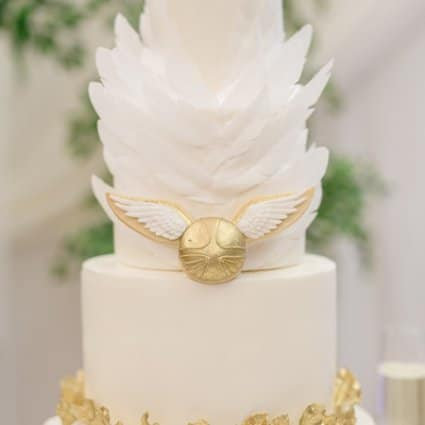 Flour and Flower Cake Design featured in Olivia and Ben's Enchanting Wedding at the Shangri-La Hotel