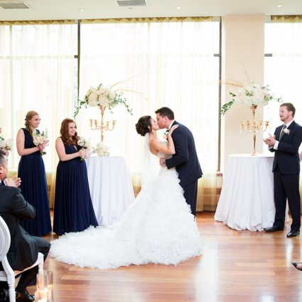 Rosewater featured in Stephanie & Jordan's Intimate Wedding at The Rosewater Room