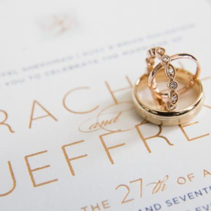 Paper & Poste featured in Rachel and Jeff's Luxe Wedding at the King Edward Hotel