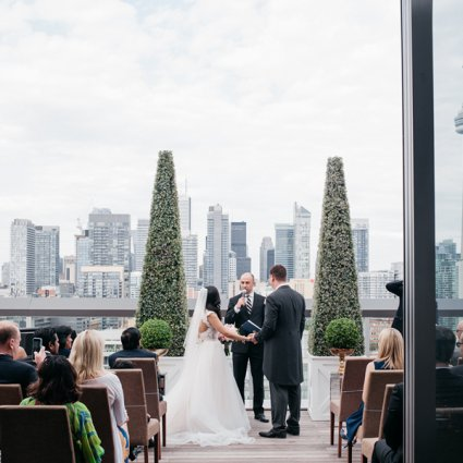 Wedding Heaven featured in Fiona and Andrew's Chic City Wedding at the Thompson Hotel