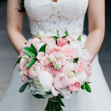 Sara Baig Designs featured in Fiona and Andrew's Chic City Wedding at the Thompson Hotel
