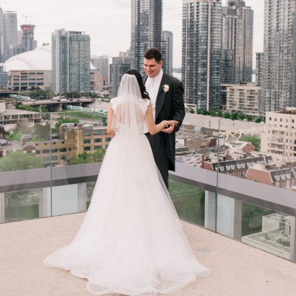 Thompson Toronto featured in Fiona and Andrew's Chic City Wedding at the Thompson Hotel