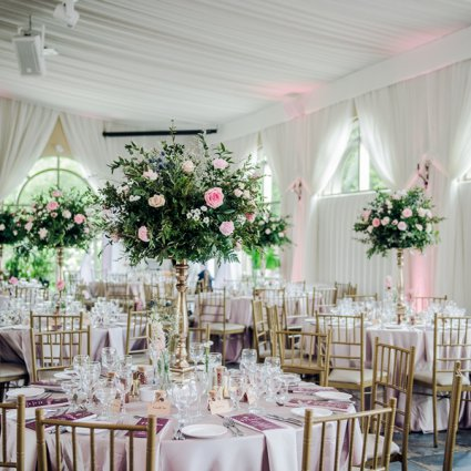 Southern Charm Vintage Rentals featured in Angelina and Victor's Lush Wedding at The Royal Ambassador