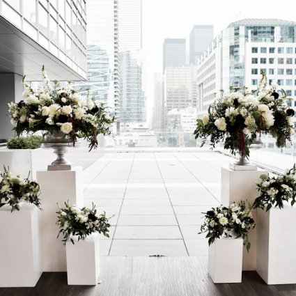 Karina Lemke featured in Ashlee and Josh's Romantic Rooftop Wedding at Malaparte