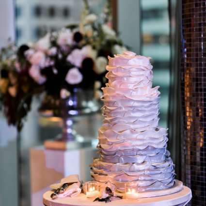 Just Temptations featured in Ashlee and Josh's Romantic Rooftop Wedding at Malaparte