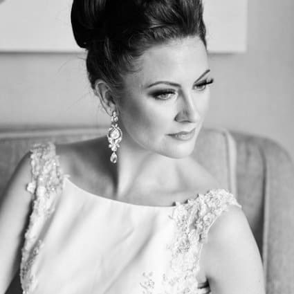 Dawna Boot Makeup featured in Ashlee and Josh's Romantic Rooftop Wedding at Malaparte