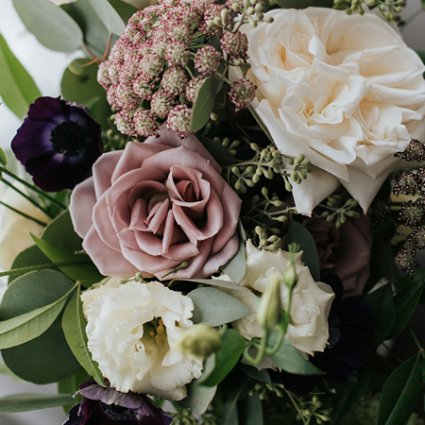 Stôk Floral & Design Inc. featured in Lisa and Jeff's Elegant Rooftop Wedding at Malaparte