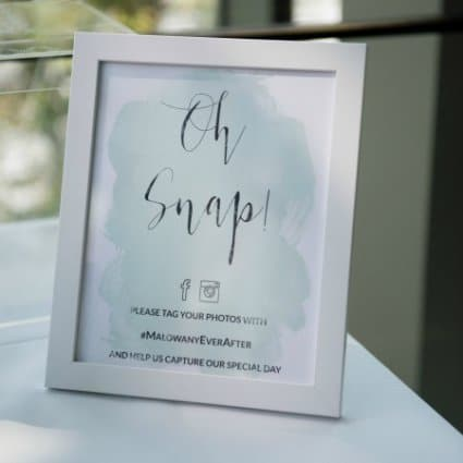 Paper Decorum featured in Nadia and Jeff's Garden Wedding at The Royal Conservatory
