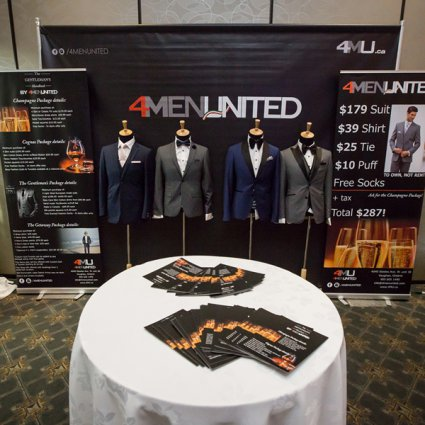 4MenUnited featured in The 2018 Wedding Open House at the Mississauga Convention Centre