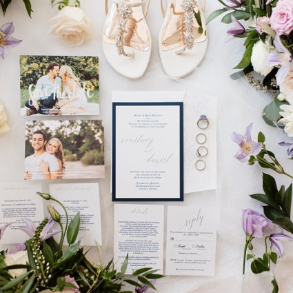 Oakville Paper Boutique featured in Courtney and Dan's Urban Rustic Themed Wedding at Steam Whist…