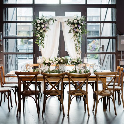 Steam Whistle Brewery featured in Courtney and Dan's Urban Rustic Themed Wedding at Steam Whist…