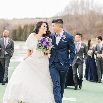 Margaret and Ryan's Charming Winter Wedding at Eagles Nest