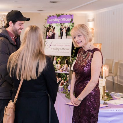Sarah Bunnett-Gibson Wedding Officiant featured in The Annual Open House at Estates of Sunnybrook: 2018 Edition