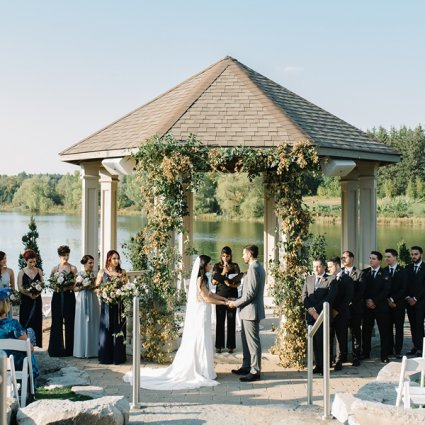 Royal Ambassador Event Centre featured in Cristina and Steve's Rustic Wedding at The Royal Ambassador