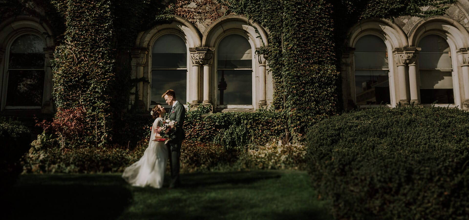 Hero image for Alex and Dylan's Wildly Romantic Toronto Wedding