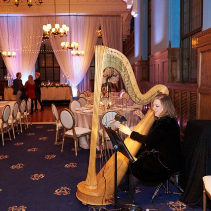 Joanna Jordan's HarpBeat featured in The 2018 Annual Wedding Open House at the Albany Club