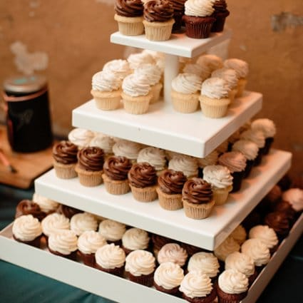 Prairie Girl Bakery featured in Kamini and Glen's Stunning Multicultural Wedding at The Ferme…