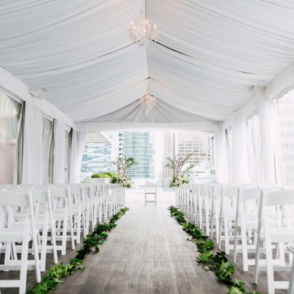 Bisous Events featured in Shannon and Matthew's Organic and Romantic Malaparte Wedding