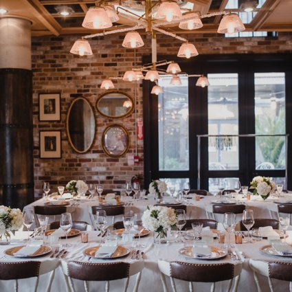 Cluny Bistro featured in Christin and Tyler's Intimate '20s Themed Wedding at Cluny Bi…