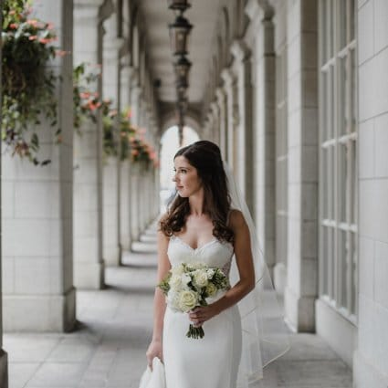 Botany Floral Studio featured in Christin and Tyler's Intimate '20s Themed Wedding at Cluny Bi…