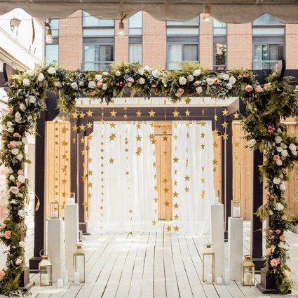 """Bisous Events featured in Daniella and Joe's """"Rustic Glam"""" Wedding At The Berkeley Fiel…"""