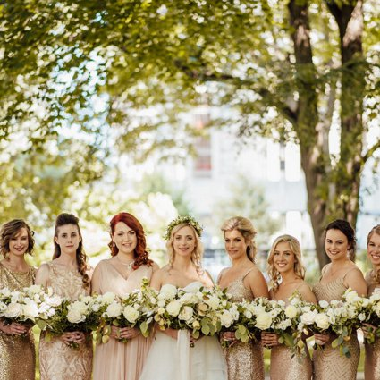 """Flower 597 featured in Daniella and Joe's """"Rustic Glam"""" Wedding At The Berkeley Fiel…"""