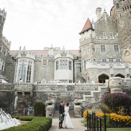 Casa Loma featured in Marissa and Will's Fairy-Tale Wedding at the Always Enchantin…