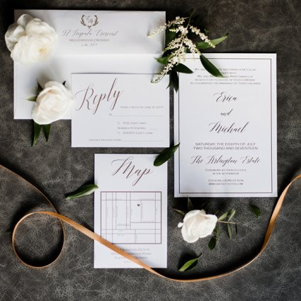RDT Events + Beauty featured in Erica and Michael's Modern-yet-Elegant Wedding at The Arlingt…